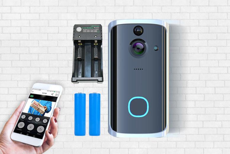 HD WiFi Video Doorbell w/ Night Vision, Batteries & Charging Pack (£39)