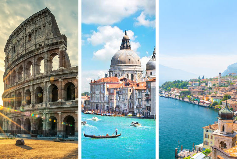 From £199pp (from Weekender Breaks) for a six-night Rome, Venice and Lake Garda break breakfast, trains and return flights, or from £299pp for a nine-night trip - save up to 23% from Weekender Breaks