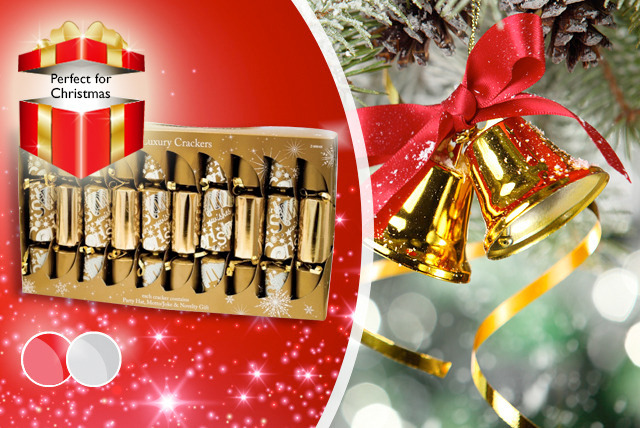 £6 instead of £12 (from Urshu) for a pack of 20 gold, silver or red Christmas crackers - get into the festive spirit and save 50%