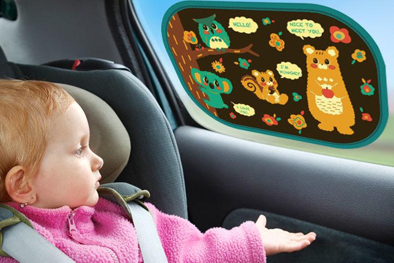 Children's Car Seat Sunshades – 4 Designs! (£7.49)