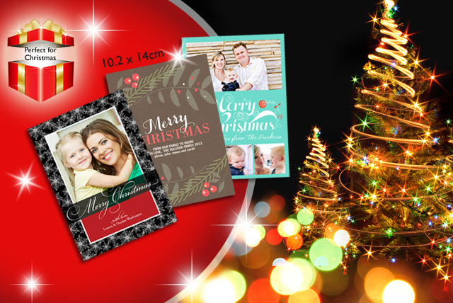 £10 (from Simply to Impress) for 25 personalised Christmas cards