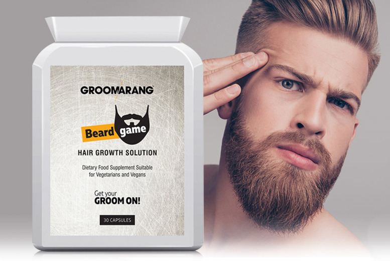 3mth Supply* Groomarang Beard Tablets (£16)