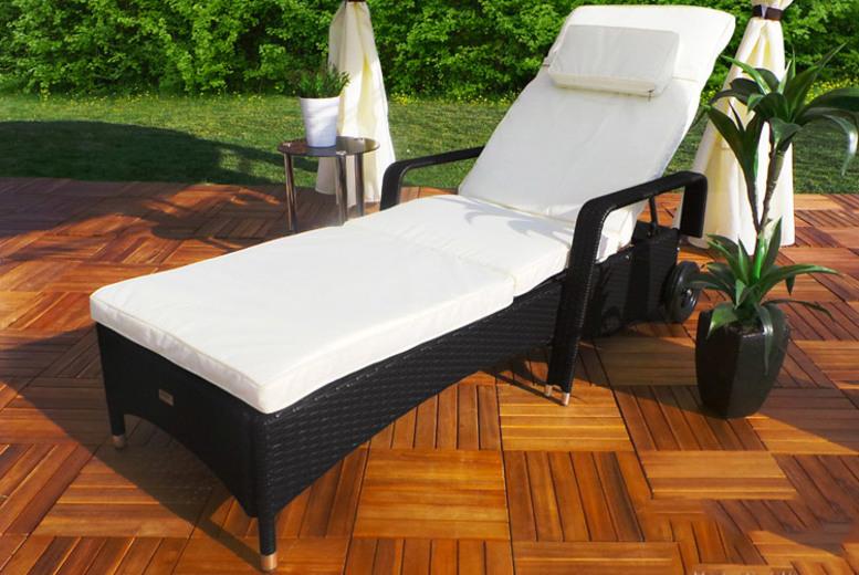 Swing & Harmonie ® 'Relax' Rattan Sun Lounger – 3 Colours!