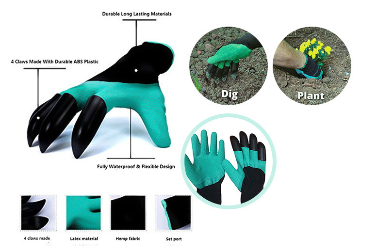 MultiFunctional Clawed Gardening Gloves