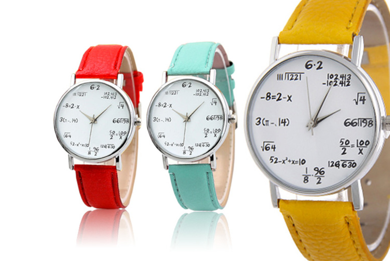 £6.99 instead of £19.99 (from Magic Trend) for a maths equation watch - choose from nine colours and save 65%
