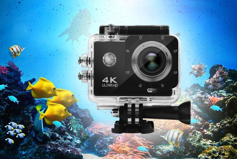 4K Ultra HD 16MP Wi-Fi Action Camera (£22)