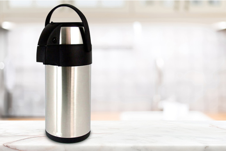 3L Airpot Tea & Coffee Stainless Steel Travel Flask (£14.99)