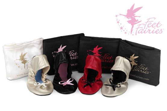 £9.99 instead of £19.99 for a pair of foldable Feet Fairies slippers & storage bag - give your feet a treat during party season and save 50%