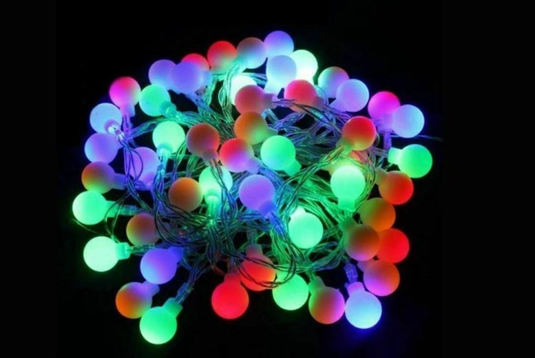 LED Colourful Ball String Lights 3 Colours & 3 Sizes!
