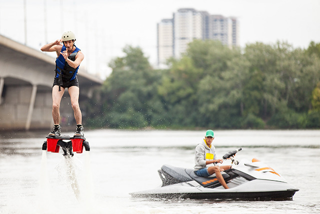 £69 for a 30-minute flyboarding experience for 1 person at Frodsham Watersports Centre, Cheshire with Flyboard Fun - save 27%