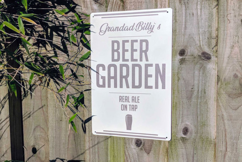 Personalised Garden Sign – Multiple Designs! (£8)