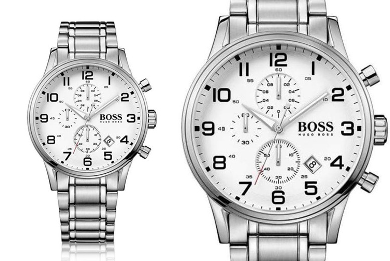 £129 instead of £346 (from The Best Watch Company) for a Hugo Boss Aeroliner stainless steel chronograph watch – save 63%