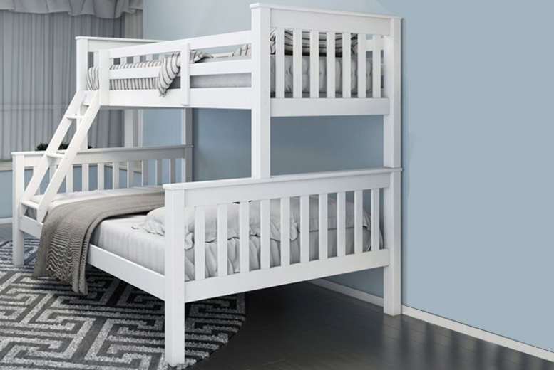 Triple Sleeper Bunk Bed with 2 optional Mattresses! (£199)