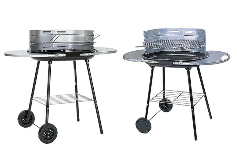Charcoal Steel Trolley Oval BBQ (£22)