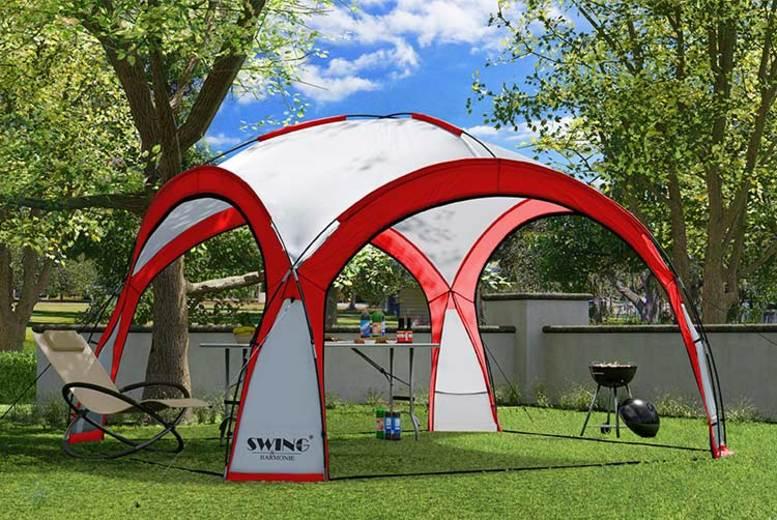 Garden: XXL LED Event Pavilion w/ Mosquito Net & Side Walls