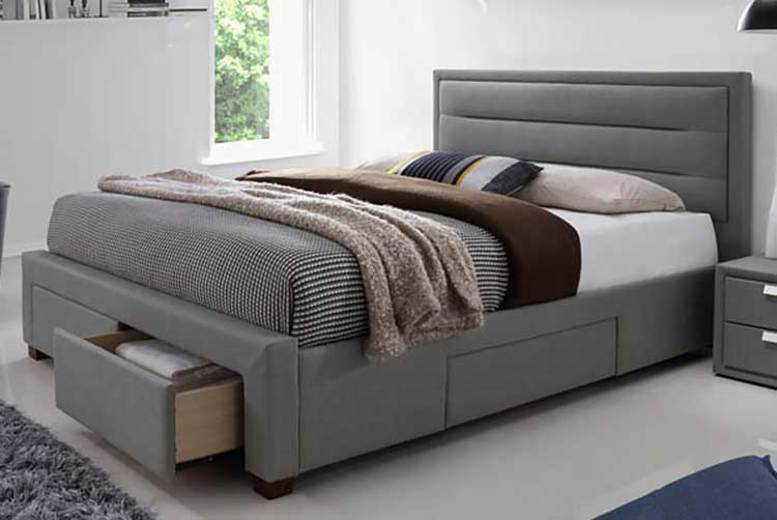 Four-Drawer Fabric Bed with optional mattress! (£279)