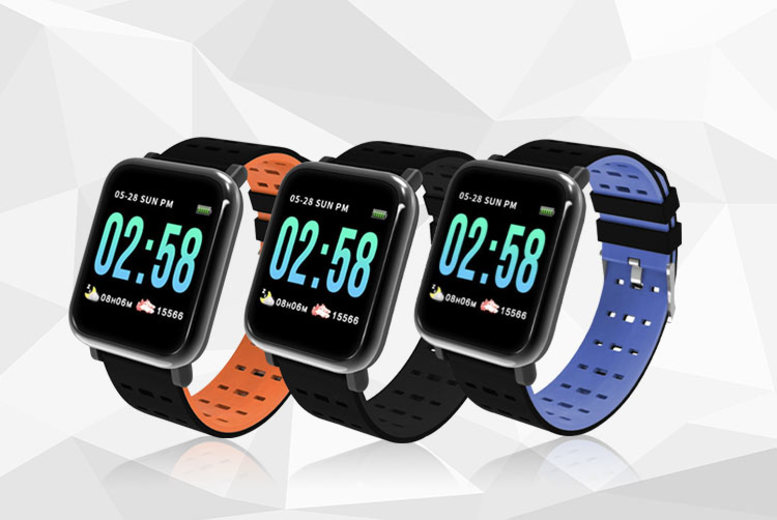 A6 Smart Watch w/ Heart Rate Monitor – 3 Colours! (£12.99)