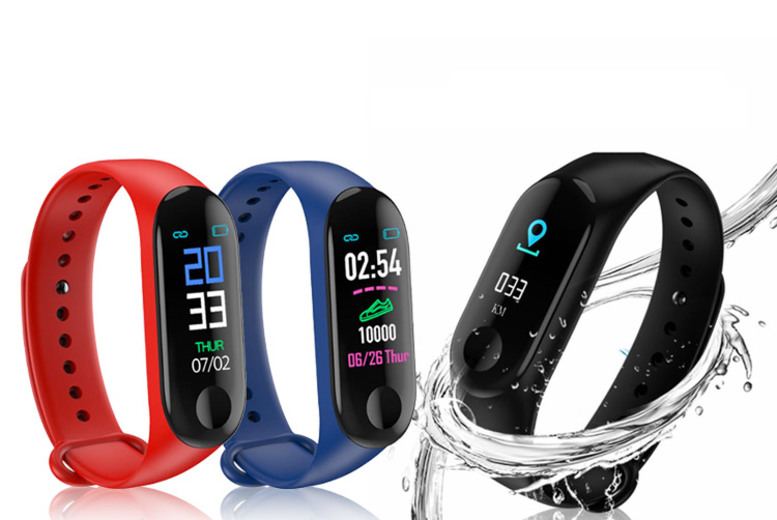Smart Watch w/ Colour Screen – 3 Colours! (£8.49)