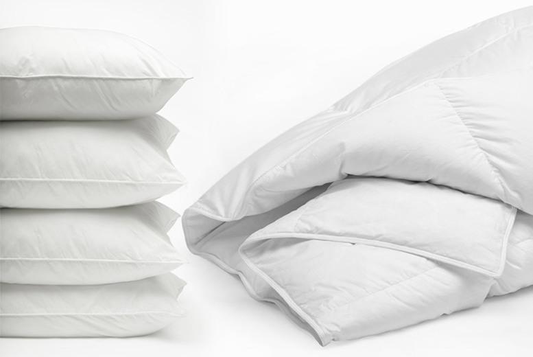 4.5 Tog Summer Duvet & 4 Pillows – 4 Sizes! (£11.99)