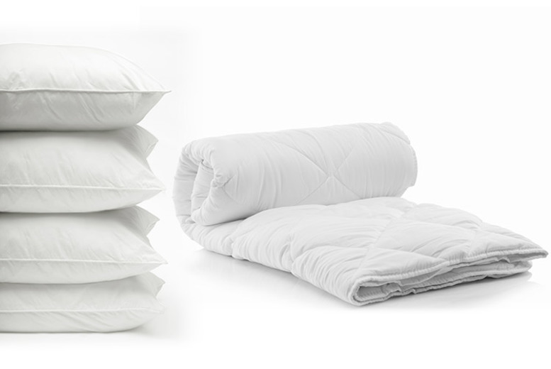 7.5 Tog Summer Duvet & 4 Pillows – 4 Sizes! (£12.99)