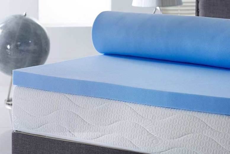 2″ Coolblue Memory Foam Mattress Topper – Optional Washable Cover! (£27.99)