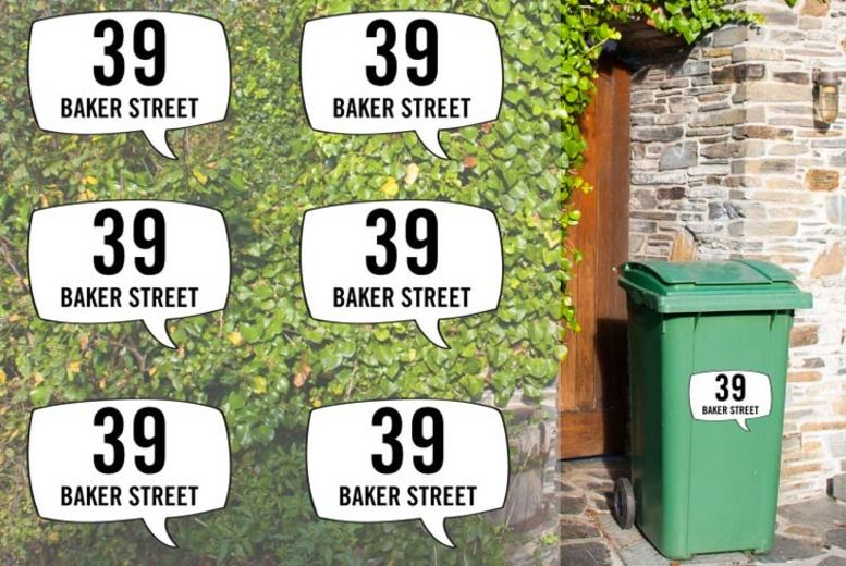 6pc Personalised Bin Stickers – 13 Designs! (£2.99)