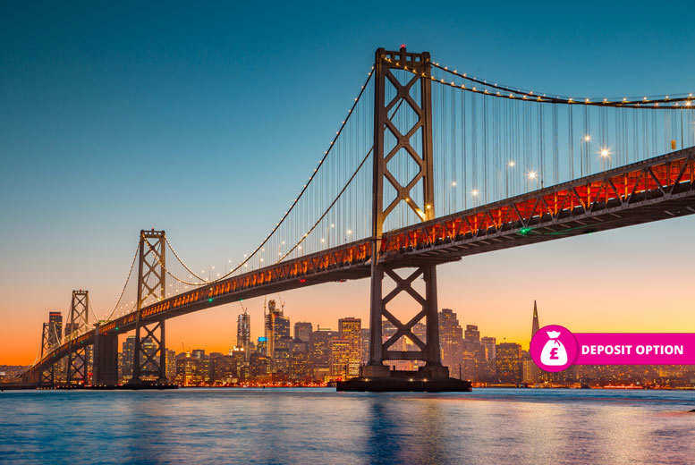 From £599pp (from Weekender Breaks) for an eight-night New York, San Francisco and Las Vegas with flights, or pay a £199pp deposit today - save up to 37% from Weekender Breaks