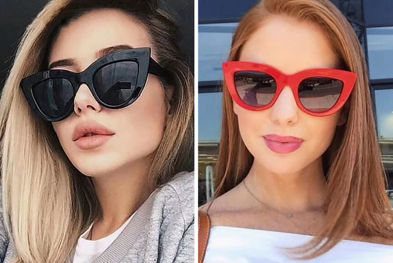 Large Cat-Eye Sunglasses – 7 Colours! (£4.99)