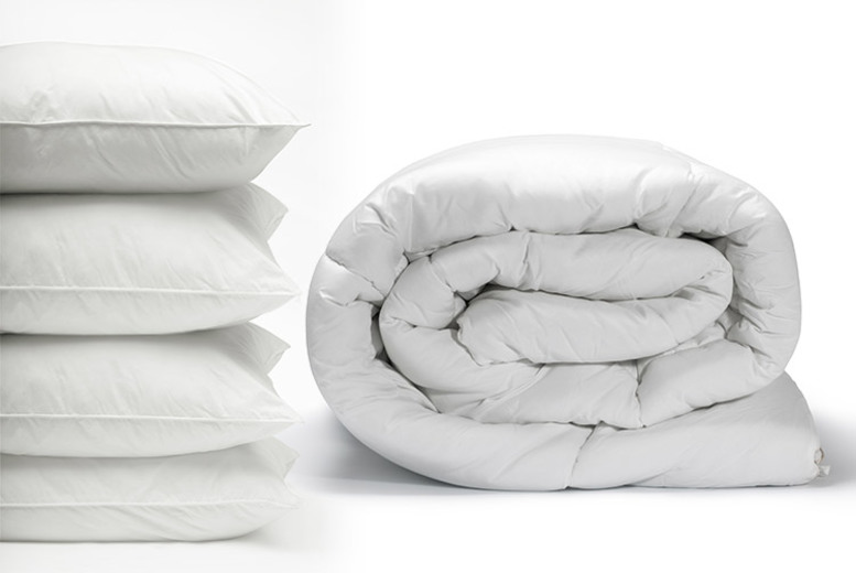 All Season 9 Tog Duvet & 4 Pillows (£13.99)