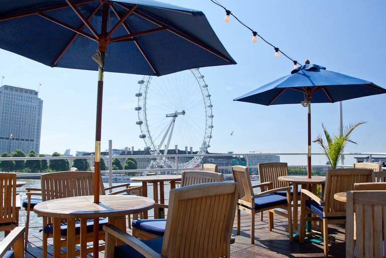 From £39 instead of up to £102.40 for a two-course meal with Prosecco for two aboard the RS Hispaniola and a River Red Rover ticket - save up to 62%