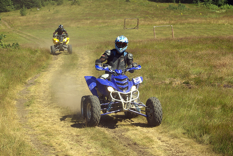 £24 instead of £50 for a five-mile quad biking experience, or £44 for two people with H.A. Quads, Kent - save up to 52%