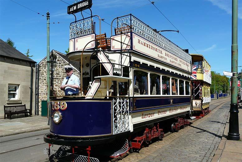 £12 instead of £16 for an adult ticket to the National Tramway Museum, Matlock, £24 for 2 or £29 for a family pass for 2 adults and up to 3 children - save up to 25%