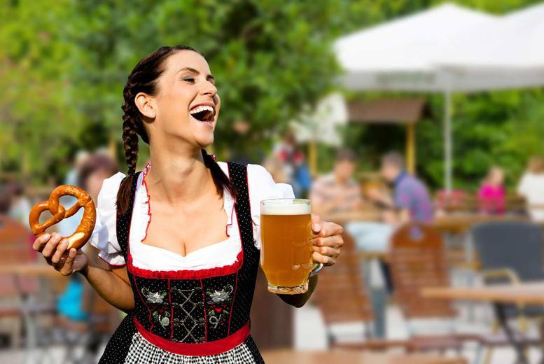 Entertainment: 2 Oktoberfest Tkts with Beer, Bratwurst & Jäger shot - 7 Locations!
