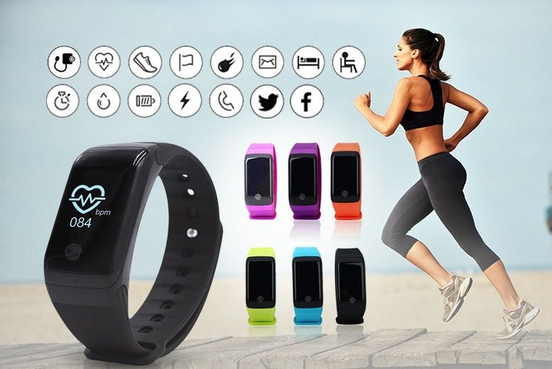 HR10+ 18-in-1 Fitness Tracker with Heart Rate & Blood Oxygen Monitor – 5 Colours! (£18)