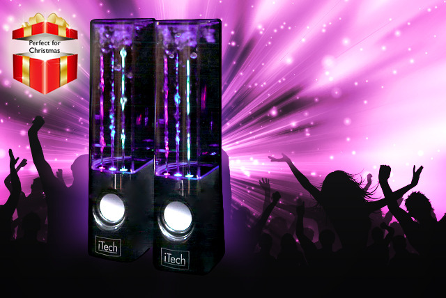 £19.98 instead of £39.99 for a set of dancing water speakers in black or white from Wowcher Direct - save 50% + DELIVERY IS INCLUDED!