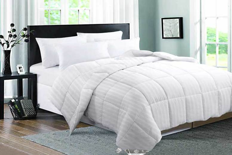 Goose Feather and Down 9 Tog Duvet – 4 Sizes (£21)