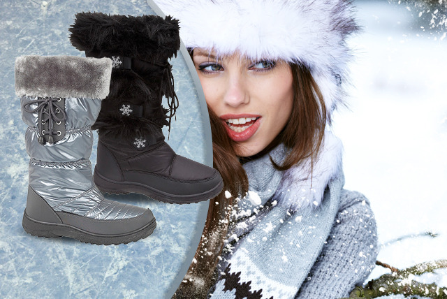 £19 instead of £60 (from Urshu) for a pair of women's snow boots - choose from a range of designs and save 68%