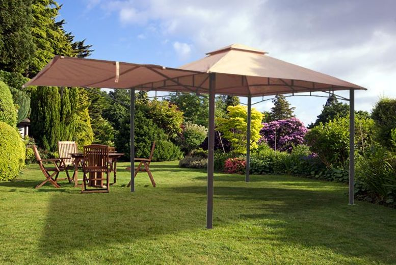 3x3m Metal Gazebo w/ Awning!