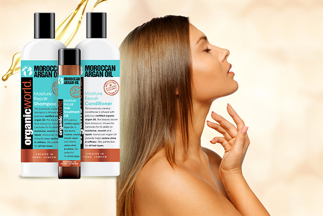 £9.99 for a hair care pack, £9.99 for 100ml Moroccan Argan Oil or £19.99 for a 'complete' hair care pack from Wowcher Direct - save up to 67%