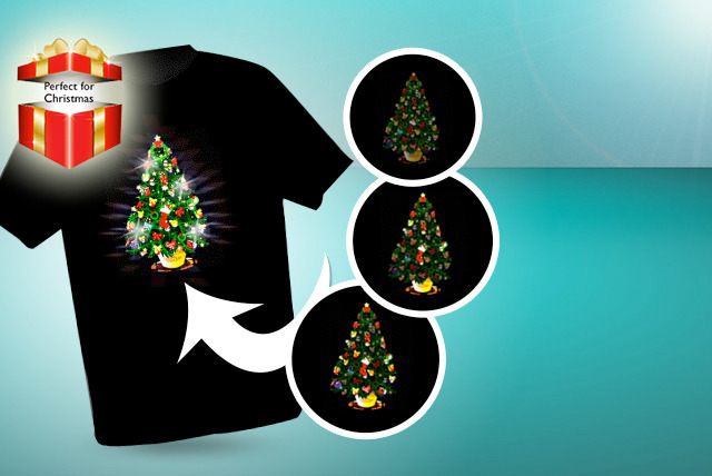 £12 instead of £21.74 (from Christmas T-Shirts) for a unisex LED light-up Christmas t-shirt in a choice of 3 designs - save 45%