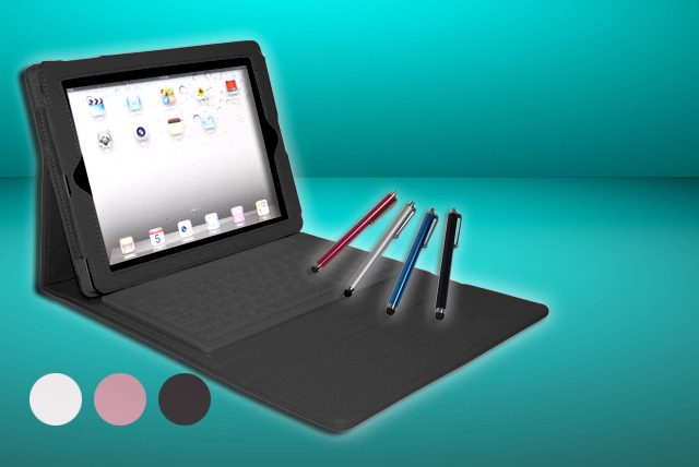 £16.99 instead of £63.98 (from Time2) for a PU leather iPad case with integrated Bluetooth keyboard and touchscreen stylus pen - save 73%