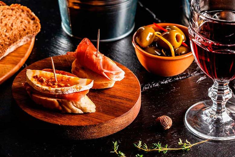 £14 instead of up to £51.55 for five sharing tapas and two glasses of Sangria for two at Mercado, Glasgow - save up to 73%