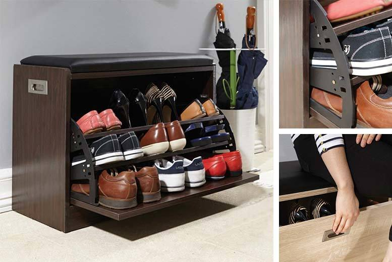 Deluxe Shoe Ottoman Bench
