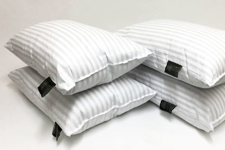 Set of 12 Hotel Quality Striped Pillows (£24.99)