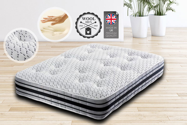 BodyMould Memory Foam 2000 Pocket Sprung Cashmere Mattress