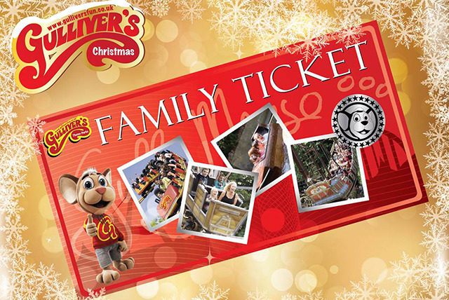 £29 instead of £59.95 for a family ticket to Gulliver's Theme Park in a choice of 3 locations - have a great day out and save 52%