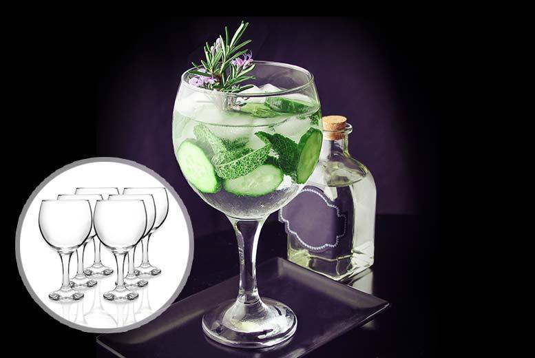 £7.99 (from Drink Stuff) for a pack of six gin balloon glasses