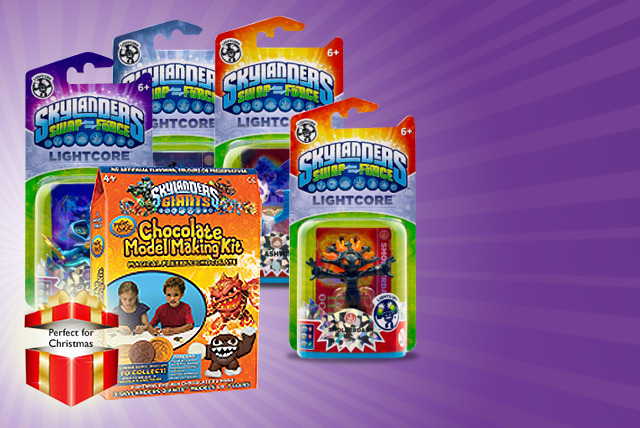 From £9.99 instead of up to £19.98 for a Skylanders chocolate model making kit & a Swapforce figure - save up to 50% + DELIVERY INCLUDED