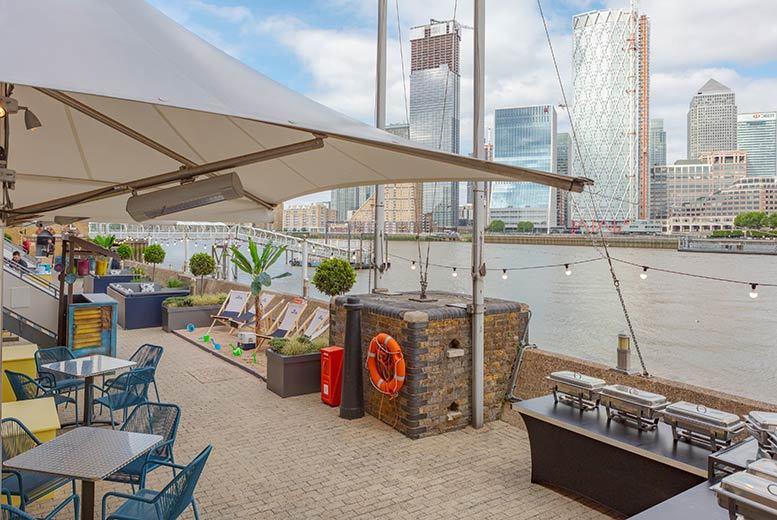 Restaurants & Bars: Beach Afternoon Tea & 'Bottomless' Pimms for 2 @ Hilton Riverside