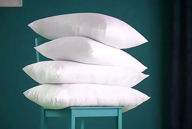 2 or 4 Hotel Quality Duck Feather & Down Pillows (£9.99)